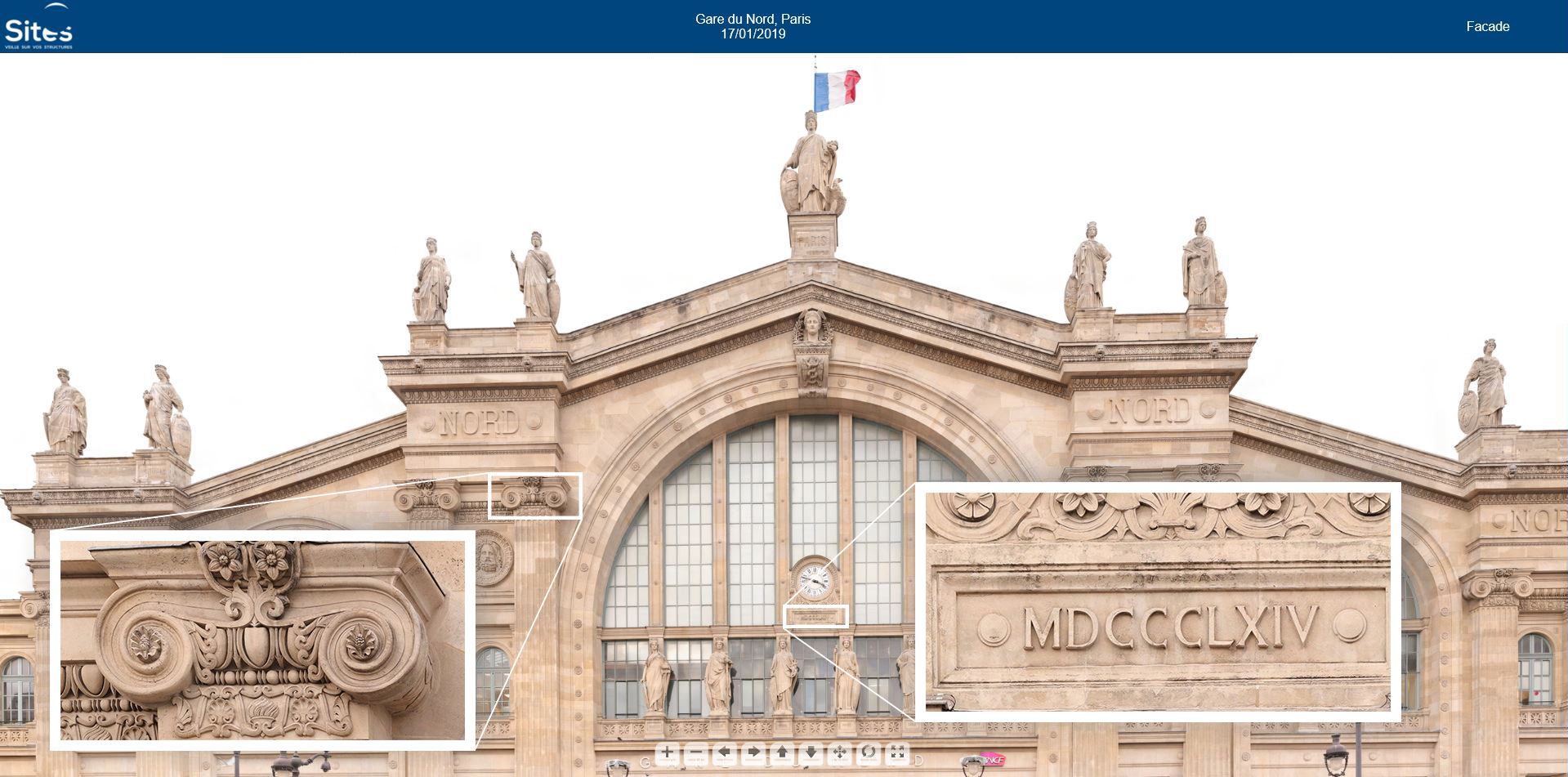 Facade Gare du Nord SITES