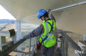 Inspection sur le viaduc de Millau