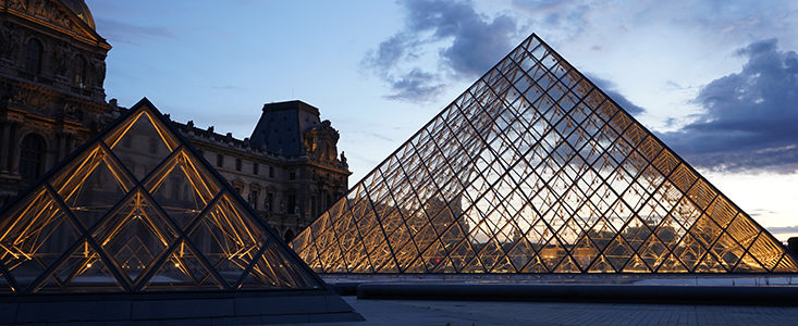Surveillance and monitoring of the Louvre Pyramid